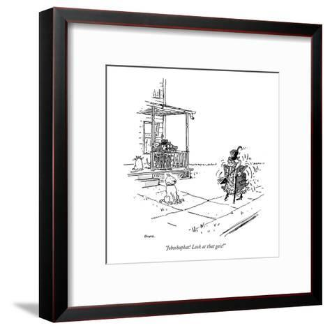 """""""Jehoshaphat! Look at that gait!"""" - New Yorker Cartoon-George Booth-Framed Art Print"""