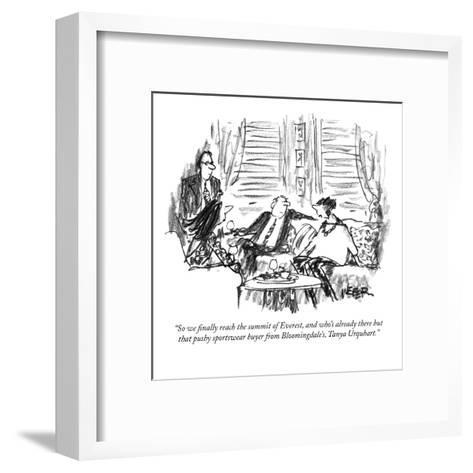 """So we finally reach the summit of Everest, and who's already there but th?"" - New Yorker Cartoon-Robert Weber-Framed Art Print"