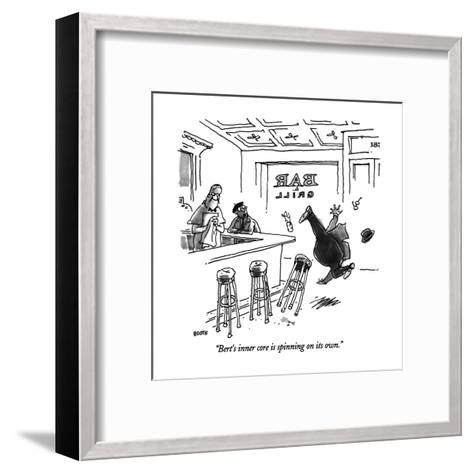 """""""Bert's inner core in spinning on its own."""" - New Yorker Cartoon-George Booth-Framed Art Print"""