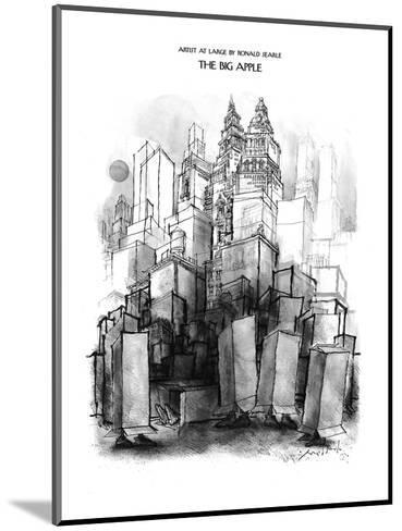 The Big Apple - New Yorker Cartoon-Ronald Searle-Mounted Premium Giclee Print