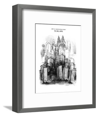 The Big Apple - New Yorker Cartoon-Ronald Searle-Framed Art Print