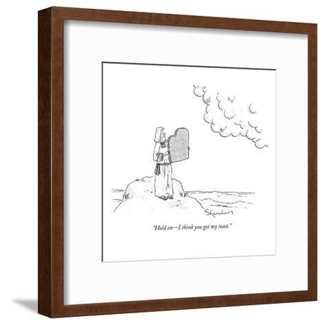 """Hold on?I think you got my toast."" - New Yorker Cartoon-Danny Shanahan-Framed Art Print"