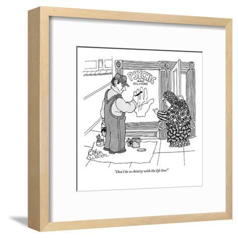 """""""Don't be so chintzy with the life line!"""" - New Yorker Cartoon-Gahan Wilson-Framed Art Print"""