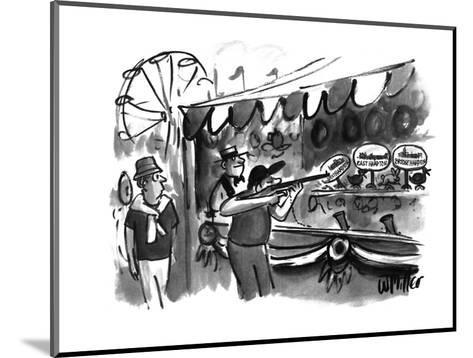 The guy shooting various targets at a booth in a carnival - New Yorker Cartoon-Warren Miller-Mounted Premium Giclee Print