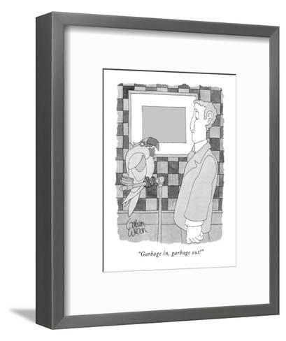 """Garbage in, garbage out!"" - New Yorker Cartoon-Gahan Wilson-Framed Art Print"