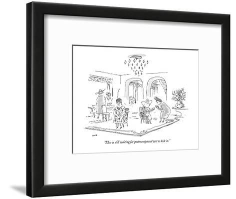 """""""Elsie is still waiting for postmenopausal zest to kick in."""" - New Yorker Cartoon-George Booth-Framed Art Print"""