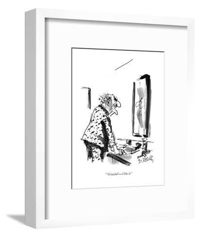 """ 'Grizzled' ? I like it."" - New Yorker Cartoon-Donald Reilly-Framed Art Print"