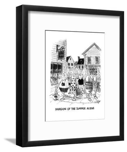 Invasion Of The Summer Aliens - New Yorker Cartoon-Warren Miller-Framed Art Print