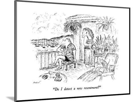 """Do I detect a new resentment?"" - New Yorker Cartoon-Edward Koren-Mounted Premium Giclee Print"
