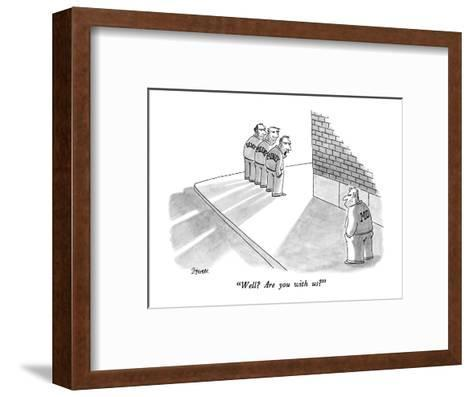 """""""Well?  Are you with us?"""" - New Yorker Cartoon-Jack Ziegler-Framed Art Print"""
