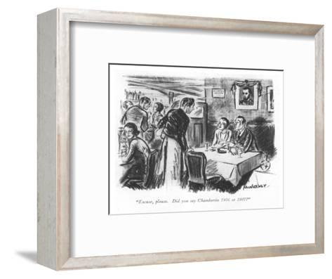 """Excuse, please. Did you say Chambertin 1906 or 1907?"" - New Yorker Cartoon-E. McNerney-Framed Art Print"