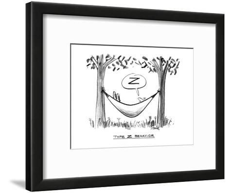 """Type Z Behavior"" - New Yorker Cartoon-Donald Reilly-Framed Art Print"