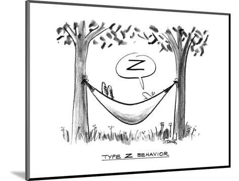 """Type Z Behavior"" - New Yorker Cartoon-Donald Reilly-Mounted Premium Giclee Print"