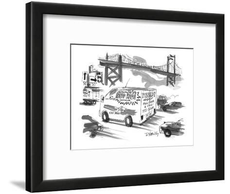 On a busy highway, a van advertises counselling for 'Road Rage' sufferers. - New Yorker Cartoon-Donald Reilly-Framed Art Print