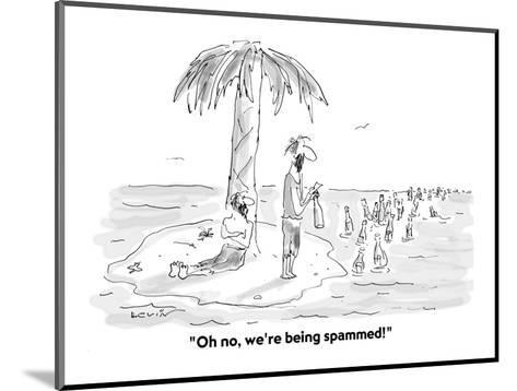"""Oh no, we're being spammed!"" - Cartoon-Arnie Levin-Mounted Premium Giclee Print"