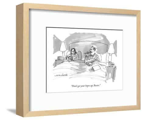 """""""Don't get your hopes up, Buster."""" - New Yorker Cartoon-Michael Crawford-Framed Art Print"""