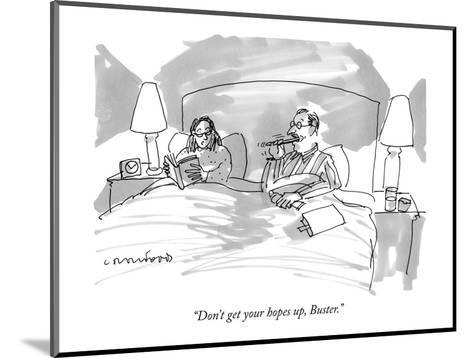 """""""Don't get your hopes up, Buster."""" - New Yorker Cartoon-Michael Crawford-Mounted Premium Giclee Print"""