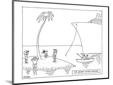 The Desert Island Package - New Yorker Cartoon-Jack Ziegler-Mounted Premium Giclee Print