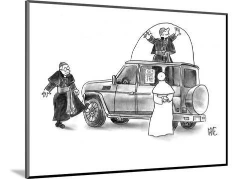 Pope shopping for new Popemobile. - New Yorker Cartoon-John Kane-Mounted Premium Giclee Print