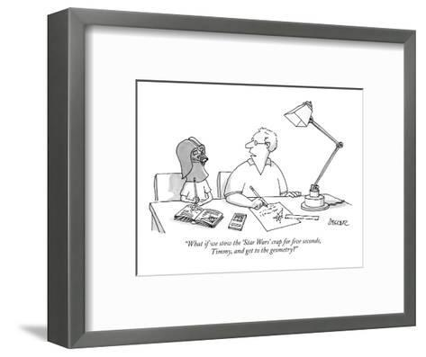 """""""What if we stow the 'Star Wars' crap for five seconds, Timmy, and get to ?"""" - New Yorker Cartoon-Jack Ziegler-Framed Art Print"""