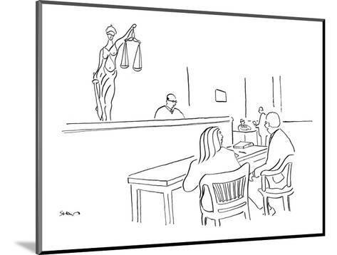 """I like to think that justice not only is blind but also has pouty lips."" - New Yorker Cartoon-Michael Shaw-Mounted Premium Giclee Print"