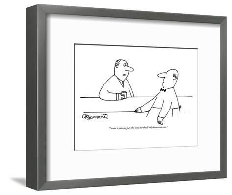 """I want to vote my fears this year, but they'll only let me vote once."" - New Yorker Cartoon-Charles Barsotti-Framed Art Print"