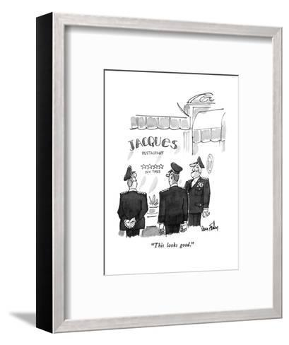 """This looks good."" - New Yorker Cartoon-Dana Fradon-Framed Art Print"