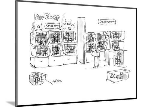 A smoking pets and a non-smoking pets section in a pet shop. - New Yorker Cartoon-Dean Vietor-Mounted Premium Giclee Print