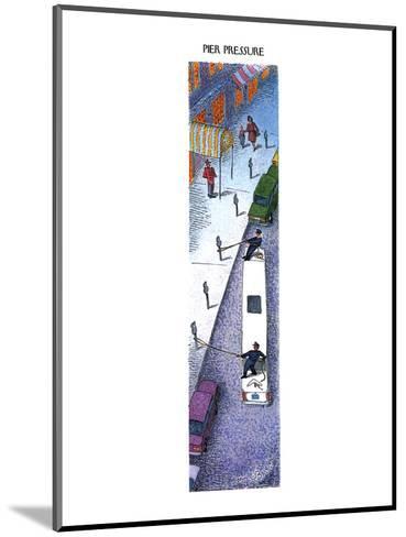 PIER PRESSURE - New Yorker Cartoon-John O'brien-Mounted Premium Giclee Print