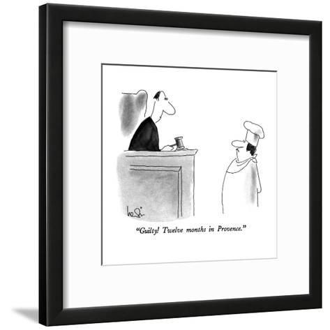 """Guilty! Twelve months in Provence."" - New Yorker Cartoon-Arnie Levin-Framed Art Print"