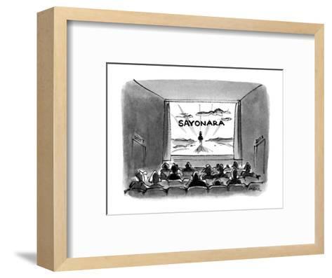 Sayonara' - New Yorker Cartoon-Lee Lorenz-Framed Art Print