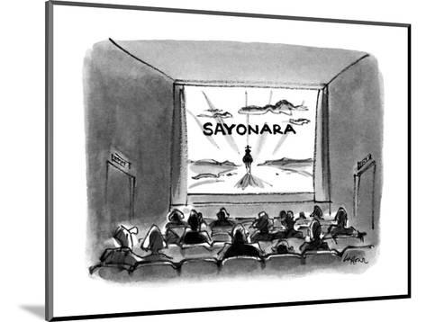 Sayonara' - New Yorker Cartoon-Lee Lorenz-Mounted Premium Giclee Print