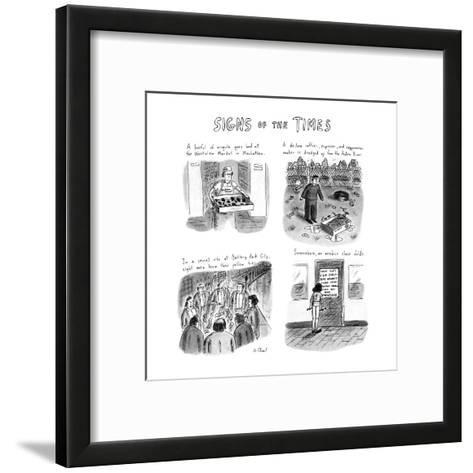 Signs of the Times: Title. - New Yorker Cartoon-Roz Chast-Framed Art Print