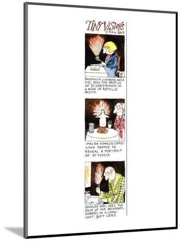 Tiny Visions - New Yorker Cartoon-Victoria Roberts-Mounted Premium Giclee Print