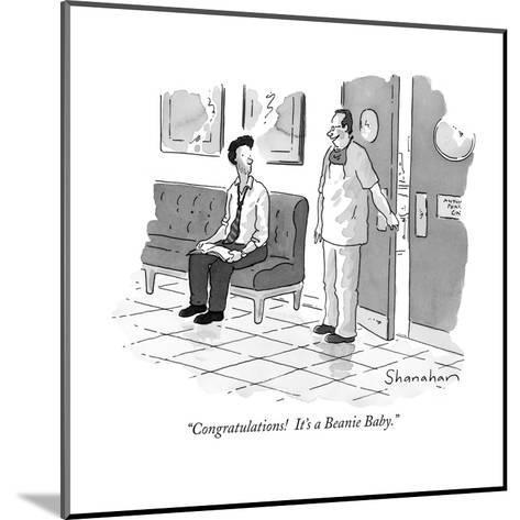 """Congratulations!  It's a Beanie Baby."" - New Yorker Cartoon-Danny Shanahan-Mounted Premium Giclee Print"