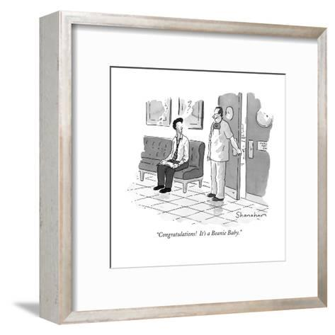 """Congratulations!  It's a Beanie Baby."" - New Yorker Cartoon-Danny Shanahan-Framed Art Print"