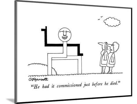 """""""He had it commissioned just before he died."""" - New Yorker Cartoon-Charles Barsotti-Mounted Premium Giclee Print"""