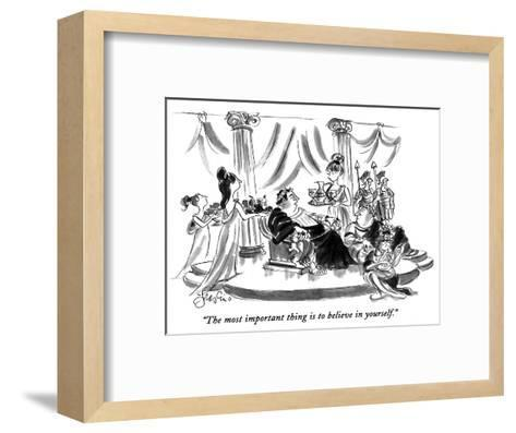 """""""The most important thing is to believe in yourself."""" - New Yorker Cartoon-Edward Frascino-Framed Art Print"""