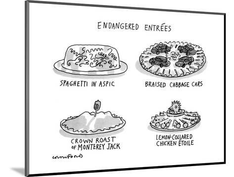 Endangered Entrees - New Yorker Cartoon-Michael Crawford-Mounted Premium Giclee Print