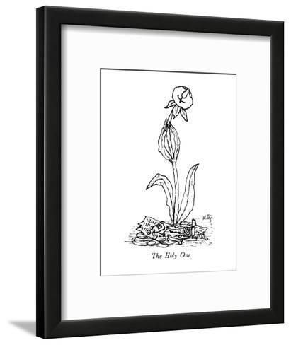 The Holy One - New Yorker Cartoon-William Steig-Framed Art Print