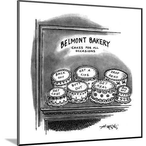 BELMONT BAKERY CAKES FOR ALL OCCASIONS - New Yorker Cartoon-Henry Martin-Mounted Premium Giclee Print