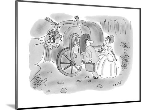Arrogant businessman pushes aside Cinderella and climbs into her pumpkin c? - New Yorker Cartoon-Arnie Levin-Mounted Premium Giclee Print