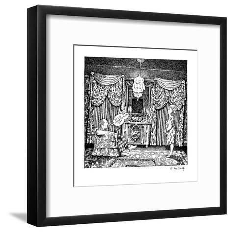 No Caption - New Yorker Cartoon-Ann McCarthy-Framed Art Print