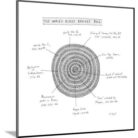 The World's Oldest Braided Rug - New Yorker Cartoon-Roz Chast-Mounted Premium Giclee Print