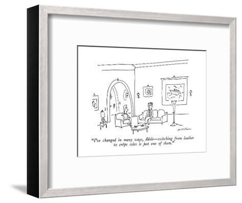 """""""I've changed in many ways, Adele?switching from leather to cr?pe soles is?-Michael Maslin-Framed Art Print"""