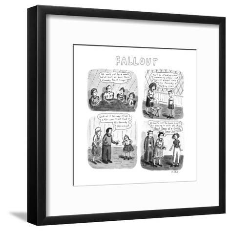 Fallout - New Yorker Cartoon-Roz Chast-Framed Art Print