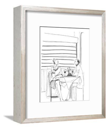 """Don't stop now!  I want to talk about your feelings all night."" - New Yorker Cartoon-Richard Cline-Framed Art Print"