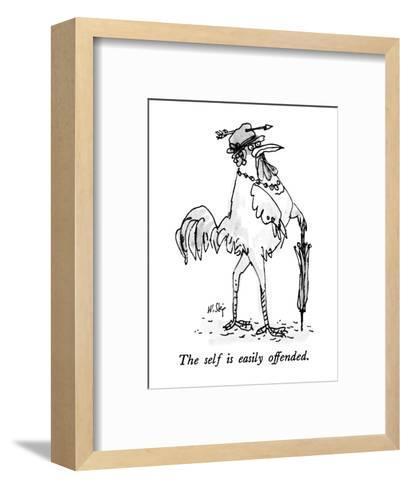 The self is easily offended. - New Yorker Cartoon-William Steig-Framed Art Print