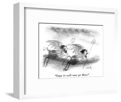 """Forget it?we'll never get Meese."" - New Yorker Cartoon-Donald Reilly-Framed Art Print"