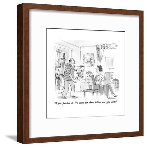 """I just finished it.  It's yours for three dollars and fifty cents."" - New Yorker Cartoon-James Stevenson-Framed Art Print"
